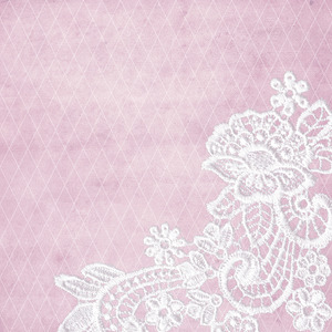 White Bridal Floral Lace On Pink