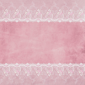 White Bridal Floral Lace On Pink 3