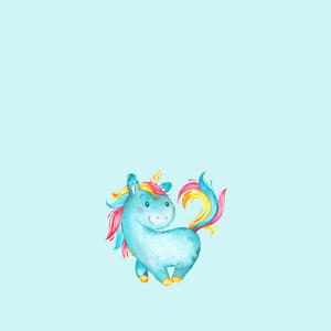 Unicorn Fairy Tale Mythic Pony Horse On Blue 3