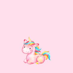 Unicorn Fairy Tale Mythic Pony Horse On Pink