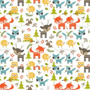 Cute Woodland Forest Wild Pattern