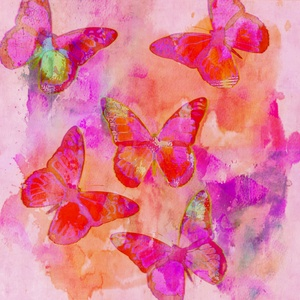 Fancy Butterfly Abstract Art