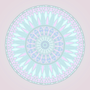 Blue And Pink Pastel Mandala