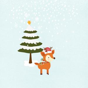 Fun Joy Christmas December Fox Snow