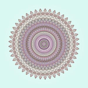 Blue Pastel Mandala 2