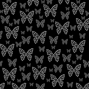 Butterflies Flowers Pattern