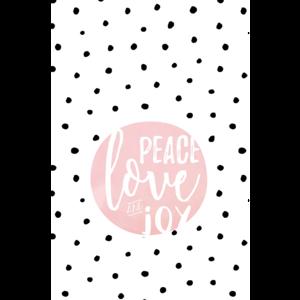 Peace Love Joy Polka Dots