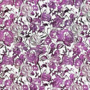 Vintage Purple Flower Pattern
