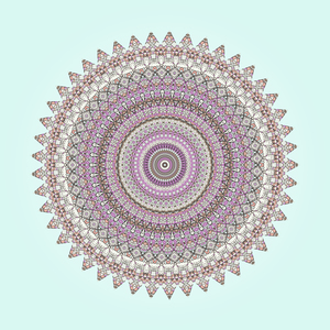 Mandala Pastel Colors