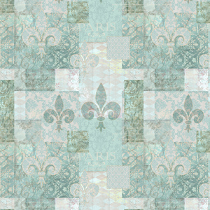 Turquoise Patchwork Pattern