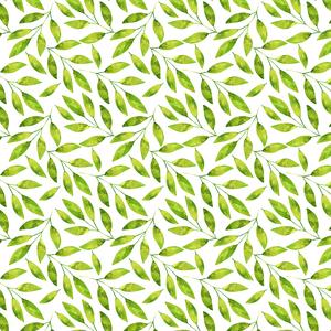 Green Watercolor Leaf Pattern