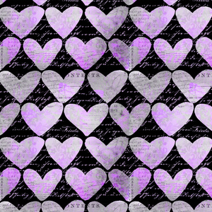 Heart Pattern And Typography