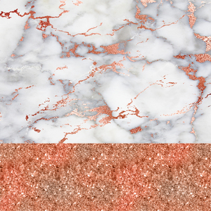 Pink Peach And White Marble