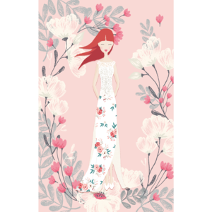 Girl Woman Pink Floral