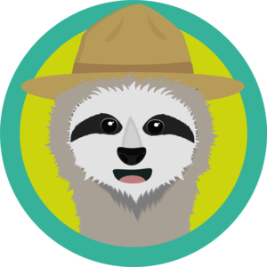 Sloth With Ranger Hat