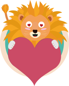 Love Lion With Heart