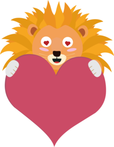 Romantic Lion With Heart