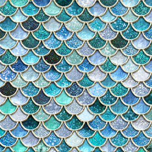 Luxury Aqua Mermaid Scales
