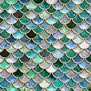 Luxury Green Mermaid Scales 2