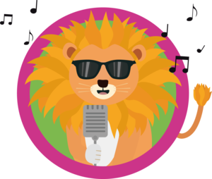 Singing Music Lion