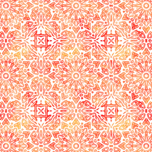Oriental Watercolor Pattern