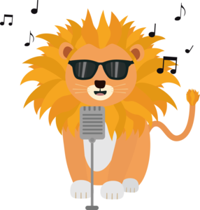 Cool Music Lion