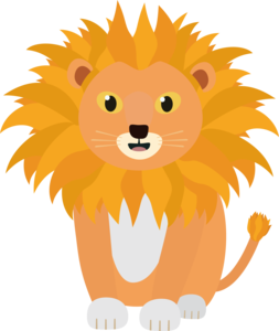 Cute Happy Lion