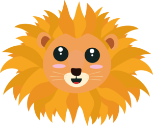 Kawaii Lion Head