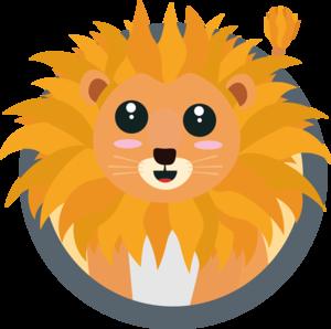 Kawaii Lion With Circle