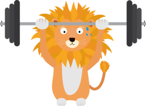 Weight Lifting Lion