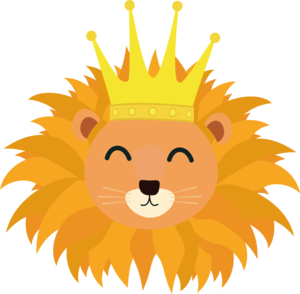 Lion Head With Crown