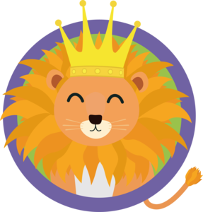 Happy Lion With Crown