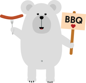 Polar BBQ Bear With Sausage