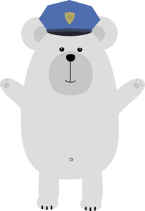 Happy Polar Bear Officer