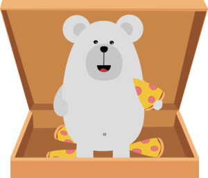 Polar Bear In Pizzabox