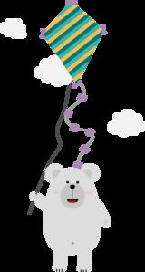 Polar Bear With Kite