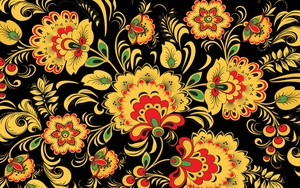 Old Retro Flowers Pattern
