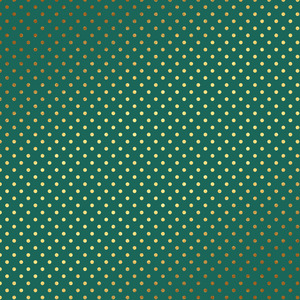 Gold Polka Dots On Green
