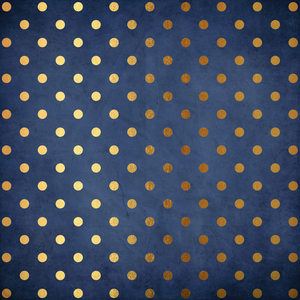 Gold Polka Dots On Blue