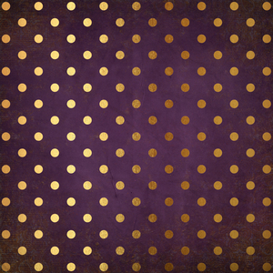 Gold Polka Dots On Purple