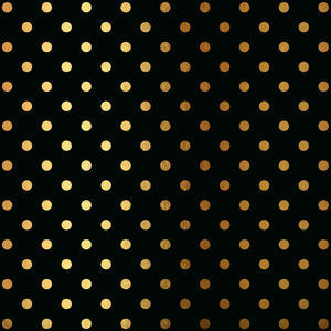 Gold Polka Dots On Black