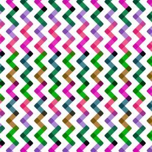 Vertical Multicolor Zigzag