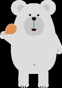 Polar Bear With Chicken Leg