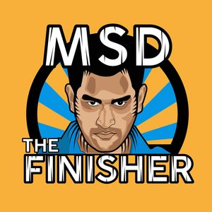 MS Dhoni The Finisher On Orange