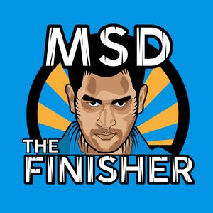 MS Dhoni The Finisher On Blue