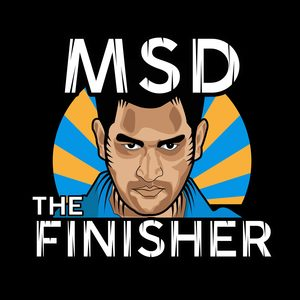 MS Dhoni The Finisher On Black
