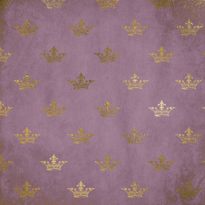 Gold Crowns On Lilac