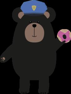 Black Bear Police Officer