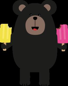 Black Bear With Icecream