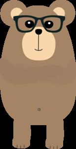 Nerd Brown Bear